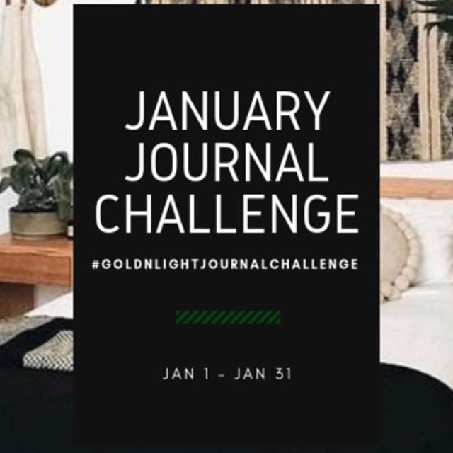 01.01.2019 | Doing This... #goldnlightjournalchallenge
