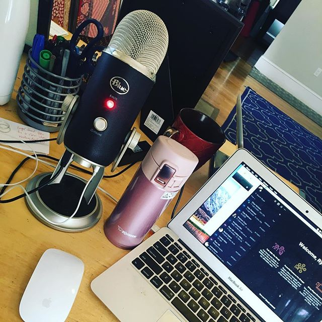 Coffee ✅ Microphone ✅ ... @unrolledpodcast essentials 😂