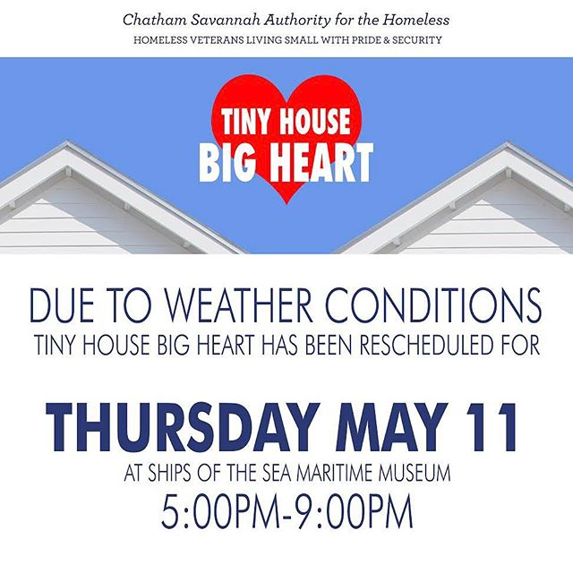 Listen up. The Tiny House Big Heart Project is an incredible organization that is building homes for homeless veterans. Come out to @shipsofthesea Thursday May 11 and show your support! @atlanticsavannah @bigbonpizza @servicebrewing