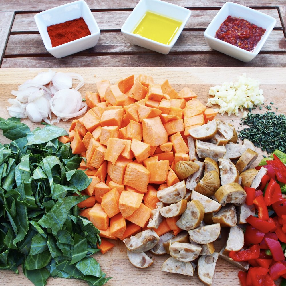 Having all of these veggies prepped and ready to go made it such a quick and easy breakfast to throw together.  Perfect for camp! Less time chopping and more enjoying the outdoors.