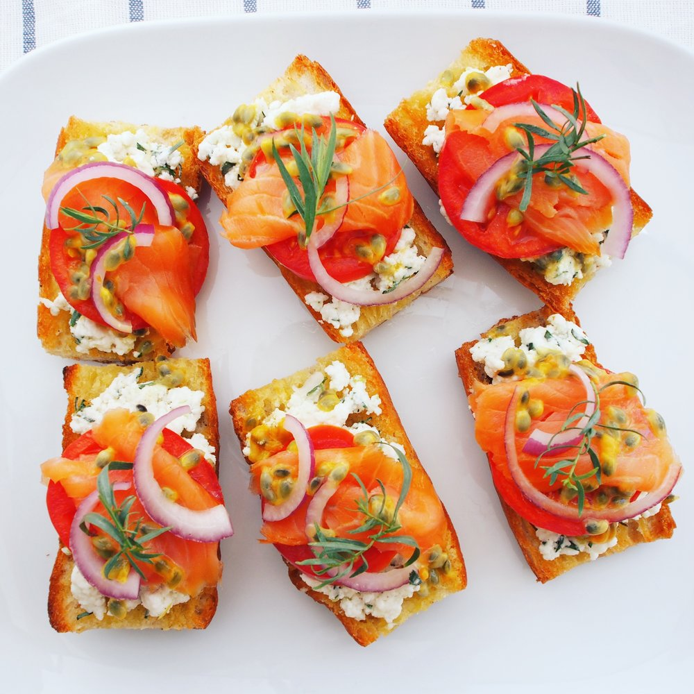 Real California MIlk queso fresco pairs perfectly with lox toast and slices of tomatoes, onions, tarragon, and a squeeze of lemon! A healthy snack idea that incorporates dairy!