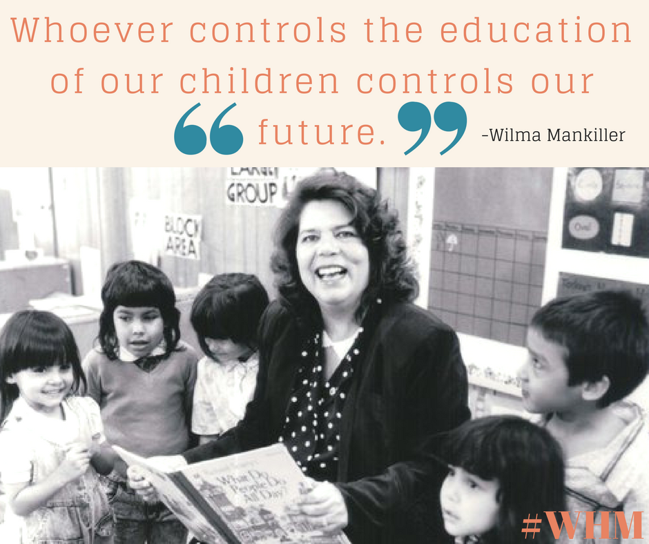 Whoever controls the education of our children controls our future.Read more at_ https_%2F%2Fwww.brainyquote.com%2Fquotes%2Fwilma_mankiller_205154.png
