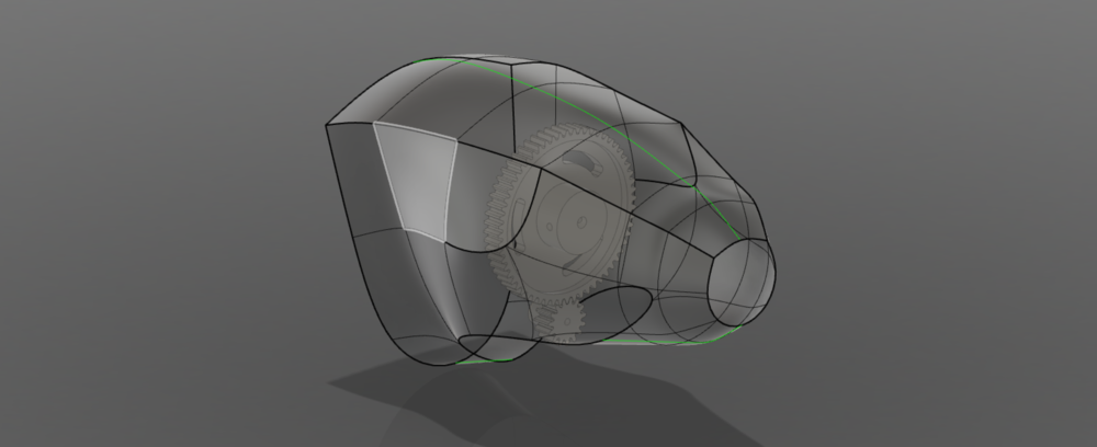 T-spline design of hub