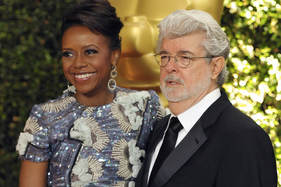 Rivals Of The Park, Melody Hobson & George Lucas; AP Images