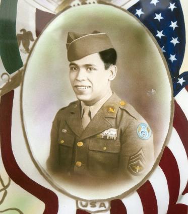 My grandfather, Manuel Najera, in uniform during World War II