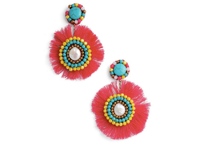 Panacea Fringe Statement Earrings $32
