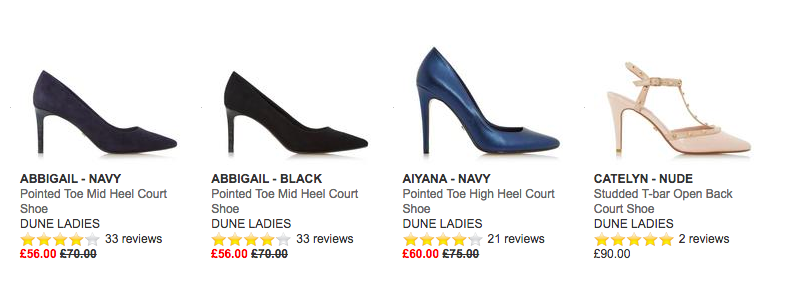 Size 5 women's heels at  DuneLondon.com