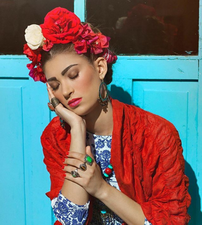 2. Frida Kahlo - Photographer Marta Andrés' Frida inspired costume is perfection.