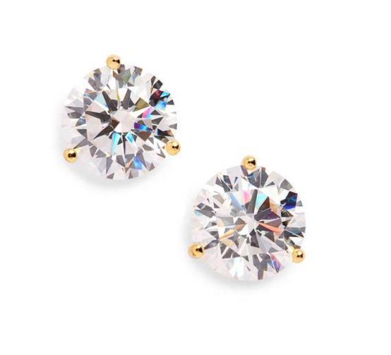 - NORDSTROM 8CT. CUBIC ZIRCONIA EARRINGS, $58.00