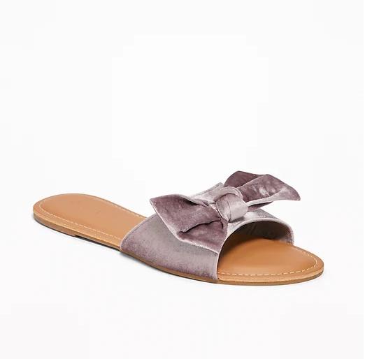 1. Velvet Bow-Tie Sandal - $12.00