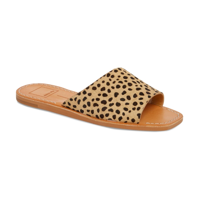 4. Leopard Print Slide Sandal - $99.99