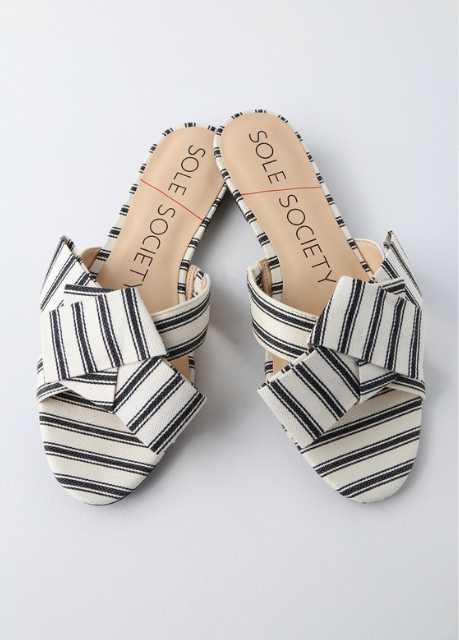 10. Sole Society Bow Slide - $39.98
