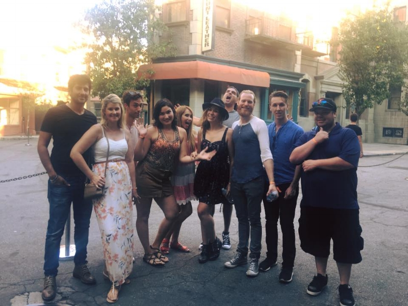 "The ""Stereotyped"" cast on the Warner Bros. lot"