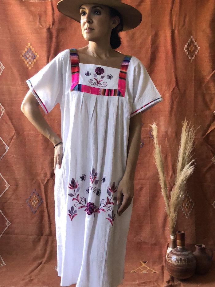 5. Shop La Tierra - Vintage Mexican Embroidered Dress