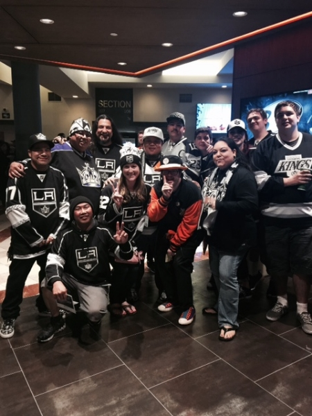 Trevor with some of his favorite LA Kings fans.