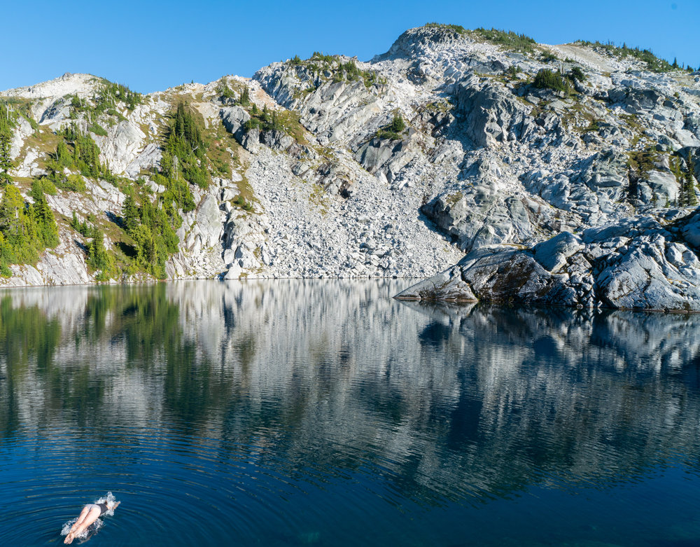 Kaitlyn diving into Robin lake.jpg