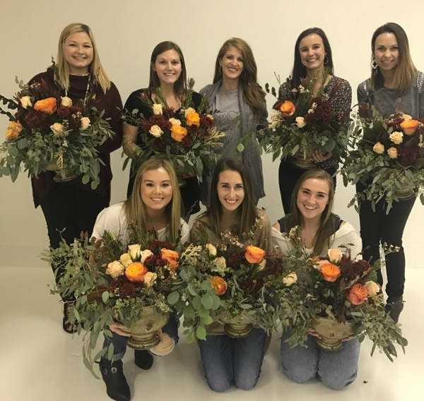Fall floral workshop with Scarlet & Gold.