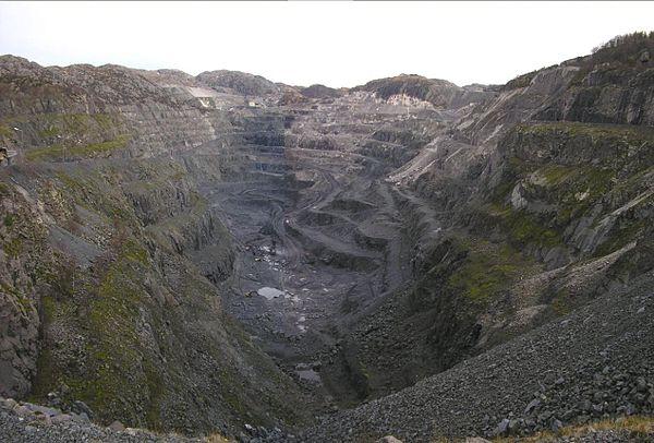 Een titaanertsmijn in Noorwegen