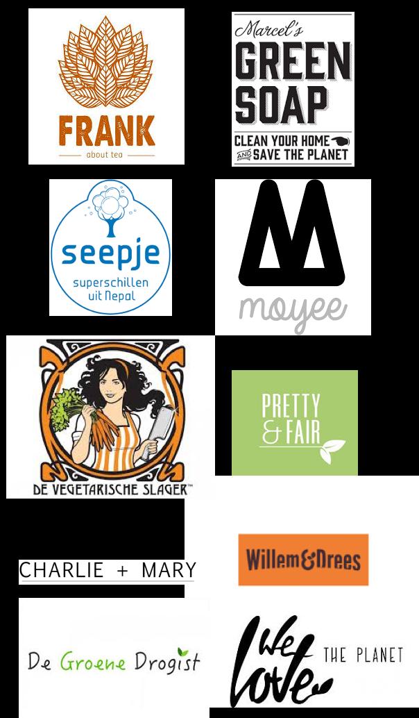 Dit zijn een aantal van de gave duurzame bedrijven waarmee we samenwerken