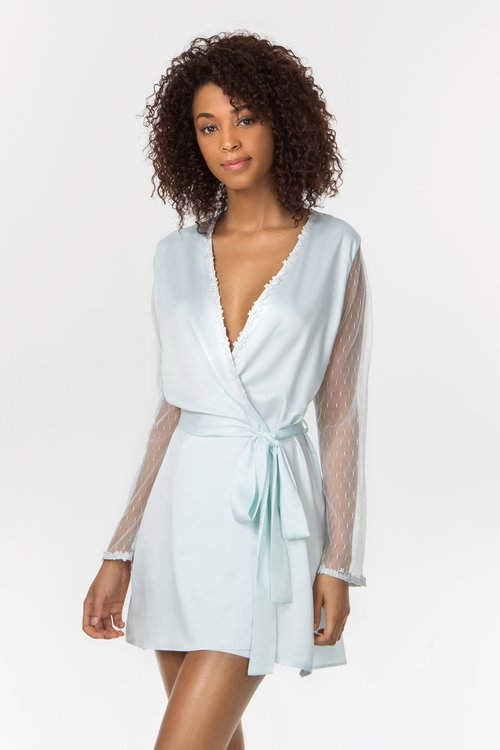 SHOWSTOPPER ROBE IN SEA GLASS — Flora Nikrooz fd4c20645
