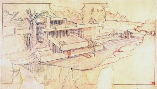 FRANK LLOYD WRIGHT   Makumaku was the name Frank Lloyd Wright gave to each of his notebooks, differentiating each one with a number. In this extensive collection of personal notes and sketches, the famed architect would lay out his vision for each of his projects. He would write or draw plans for the building itself, and the following pages would be filled with idea upon idea to ensure architecture and design would be perfectly integrated. The madman thought of everything. Every stick of furniture, every napkin or piece of cutlery on a table, every rose in every garden depended in his light ¦  Just like a good, properly integrated story that permeates every single cell of a living person, from head through heart and down to the toes.   Makumaku. Nutritional and delishional storytelling.