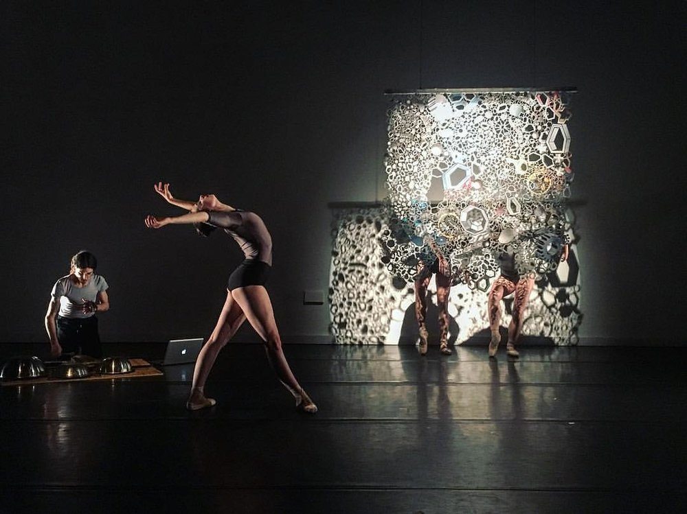Max Kanowitz, Jordan Miller, Tiffany Mangulabnan and Amy Saunder in konverjdans' 'STRATA'