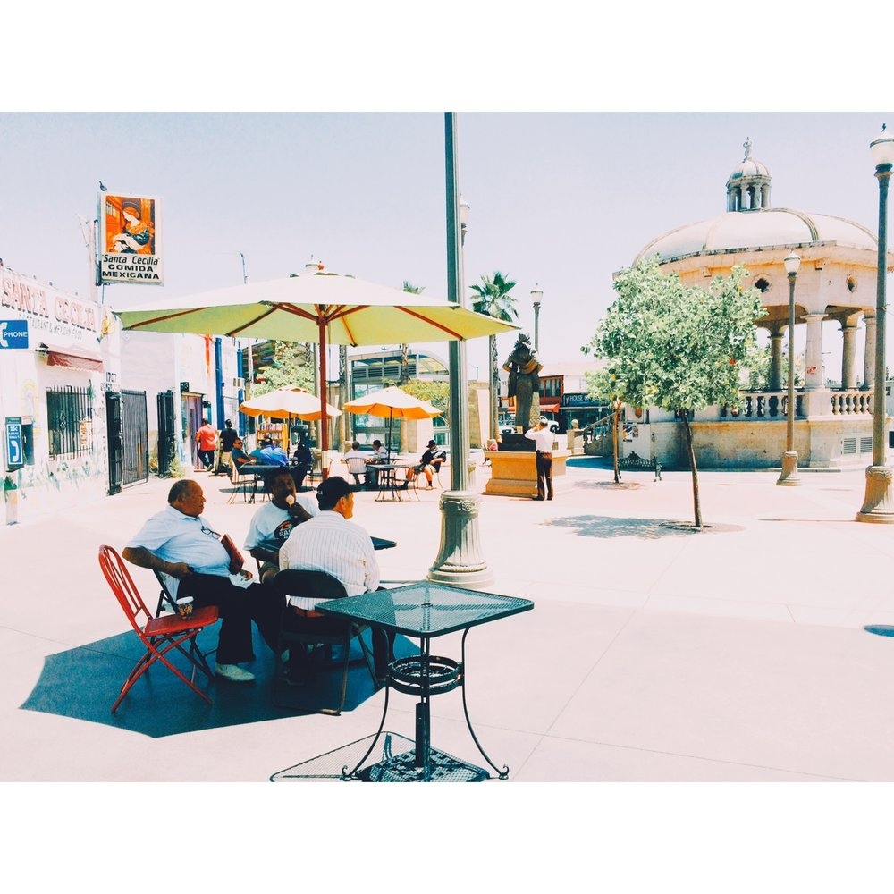 Boyle Heights, where the Mexican family's stroll down Mariachi Plaza and the old men sit around and talk about when they were young.