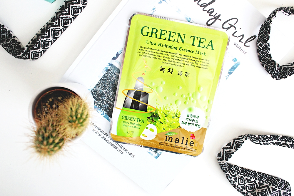 sheet mask korean skincare malie green tea