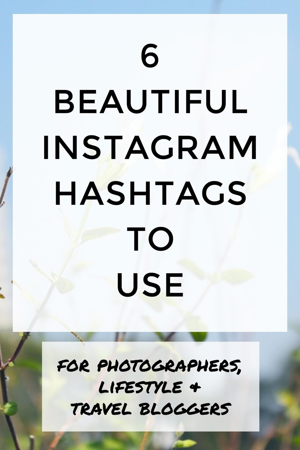 instagram hashtags photography blogging inspiration