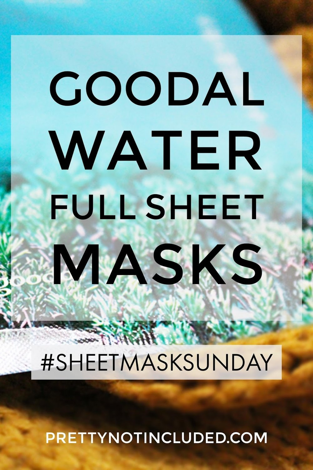 Sheet Mask Sunday Goodal Water Full Sheet Mask