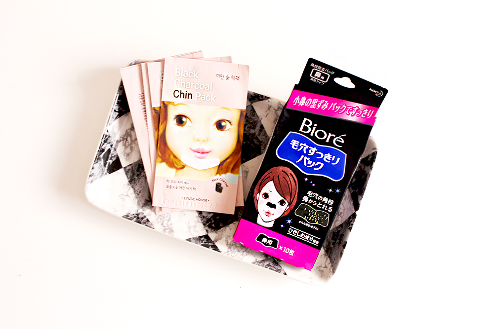 charcoal pore strips biore etude house yesstyle chin pack