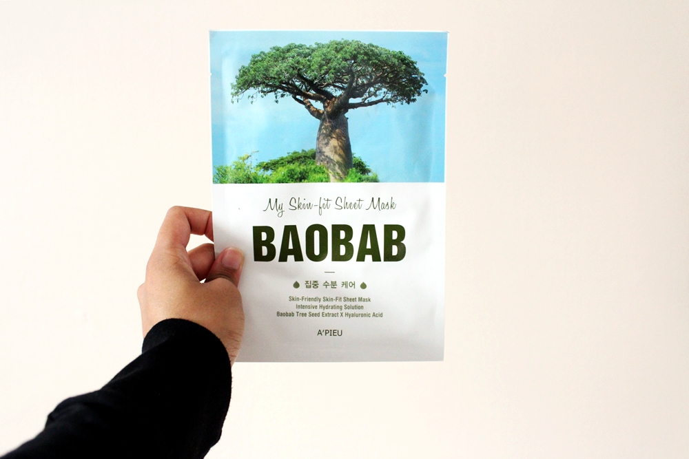 sheet mask a'pieu skin-fit baobab superfood skincare korean beauty