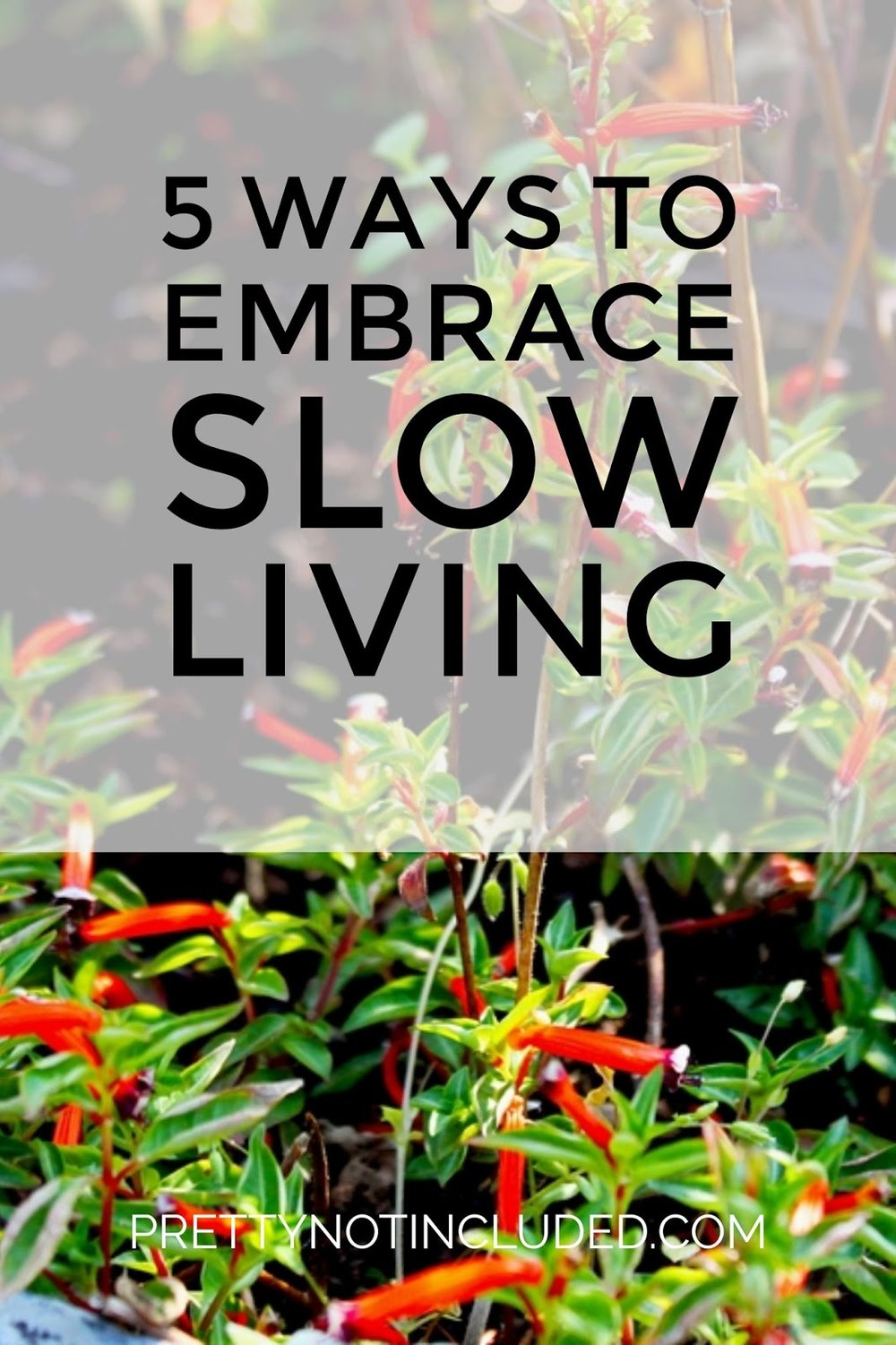 slow living lifestyle self care