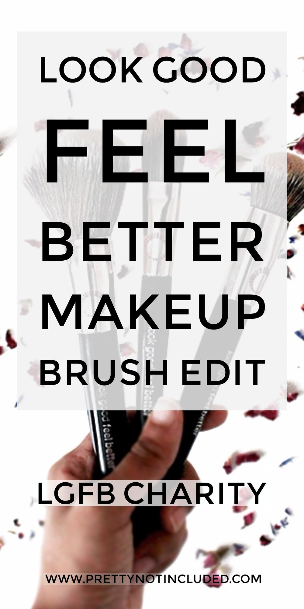 Full Coverage Makeup Routine With Look Good Feel Better Makeup Brushes | 8-12% of wholesale proceeds go towards the LGFB charity that helps women and teens going through cancer treatment by hosting free skincare and makeup workshops to help boost confidence.