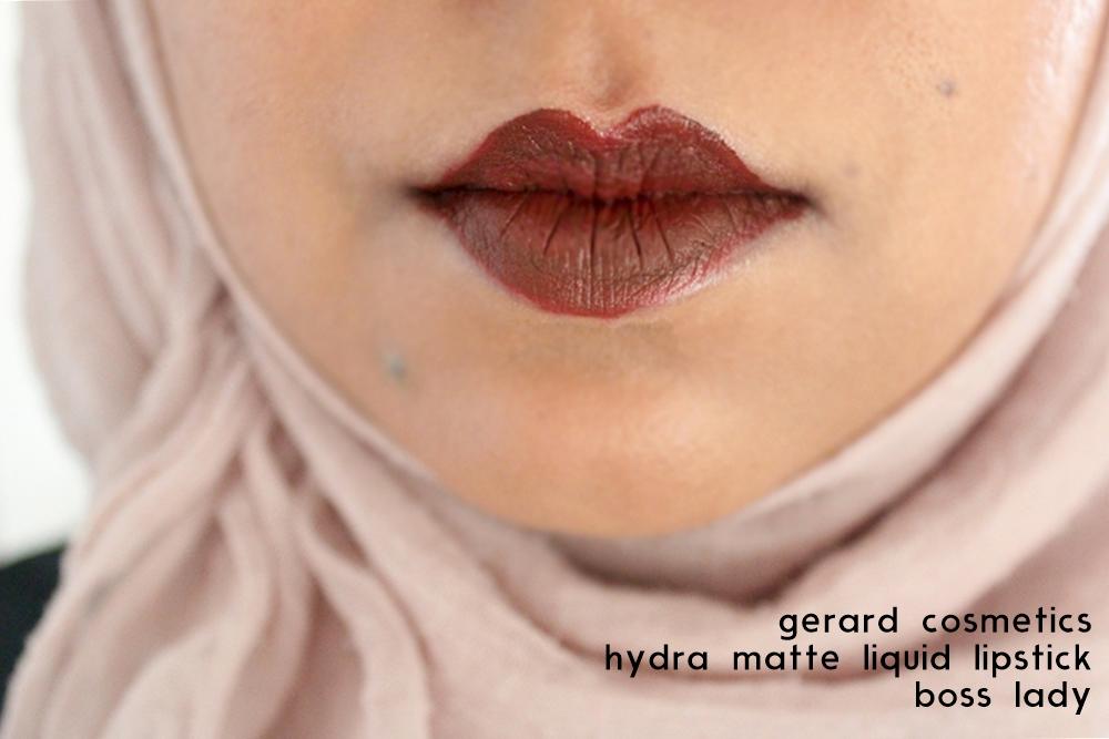 gerard cosmetics hydra matte lipstick bossy lady