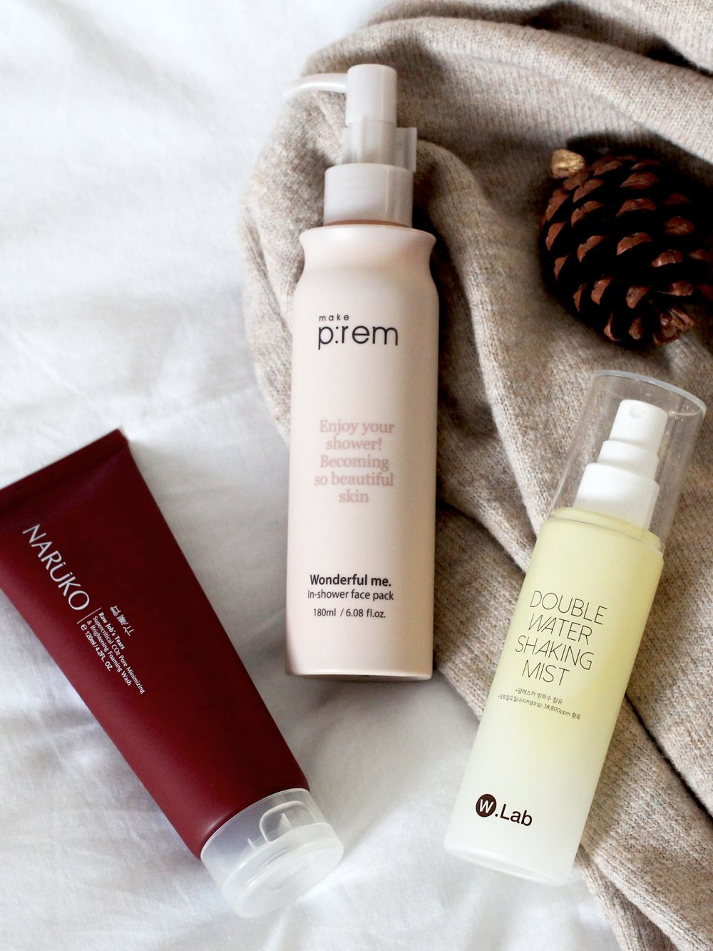 New Year, New Skincare. Featuring Korean and Taiwanese beauty brands Make P:rem, W Lab and Naruko.