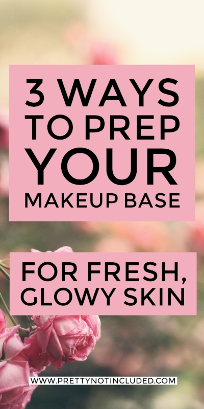 3 ways to prep your makeup base for a long lasting and flawless finish. From a full coverage matte finish to all day fresh, glowy and dewy skin.