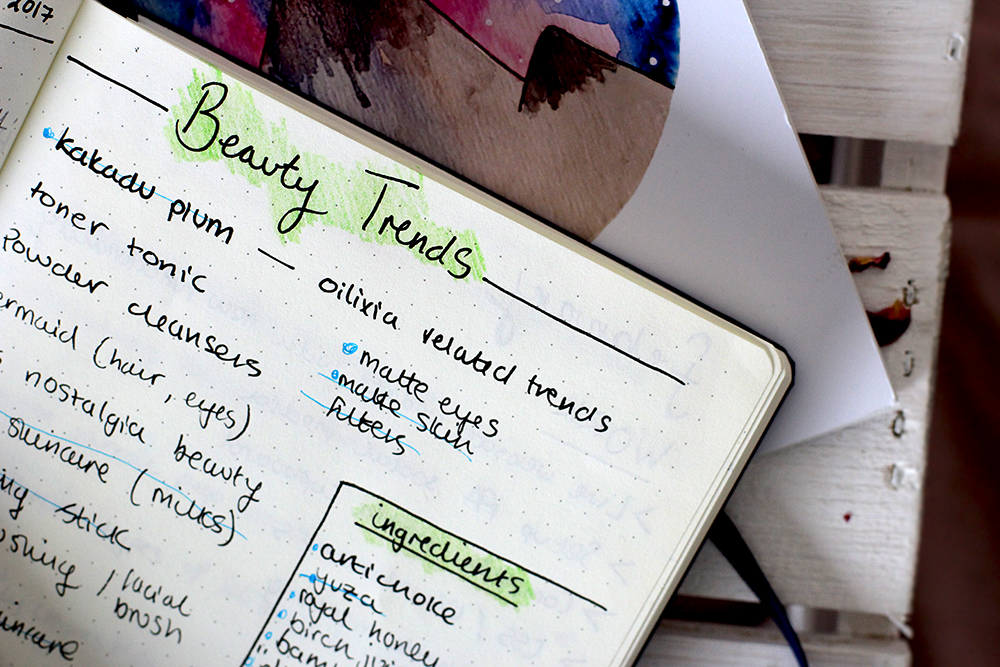 Bullet Journal Ideas for bloggers - Keep track of trends