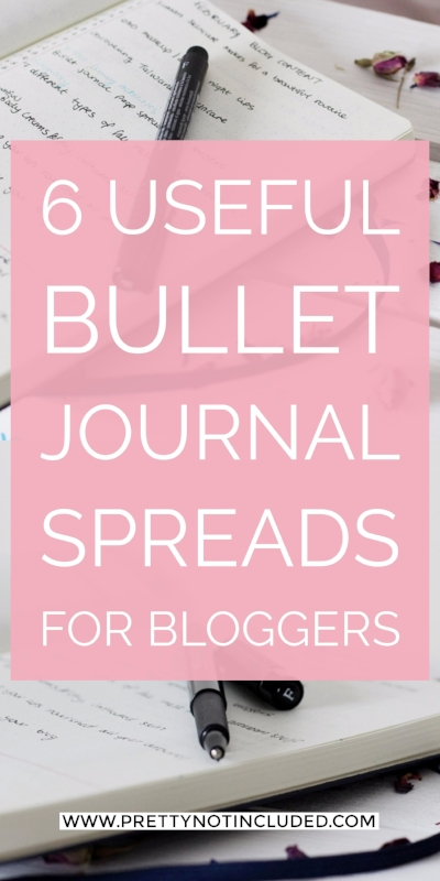 6 Useful Bullet Journal Spreads For Bloggers | Including trackers and how to create a simple and flexible editorial calendar on one page.