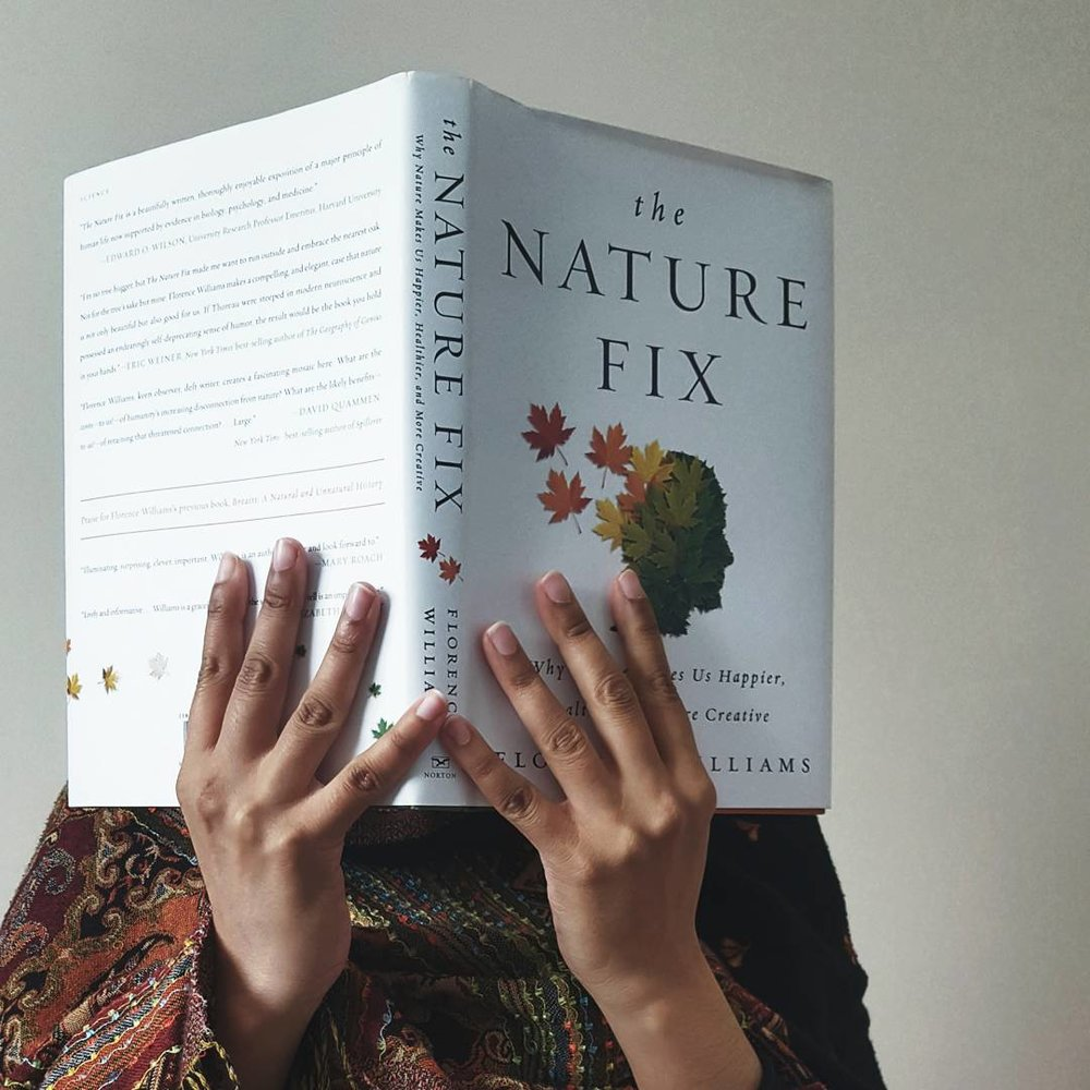 the nature fix faceless portrait currently reading