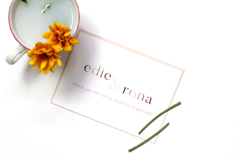 edie & rona stationery