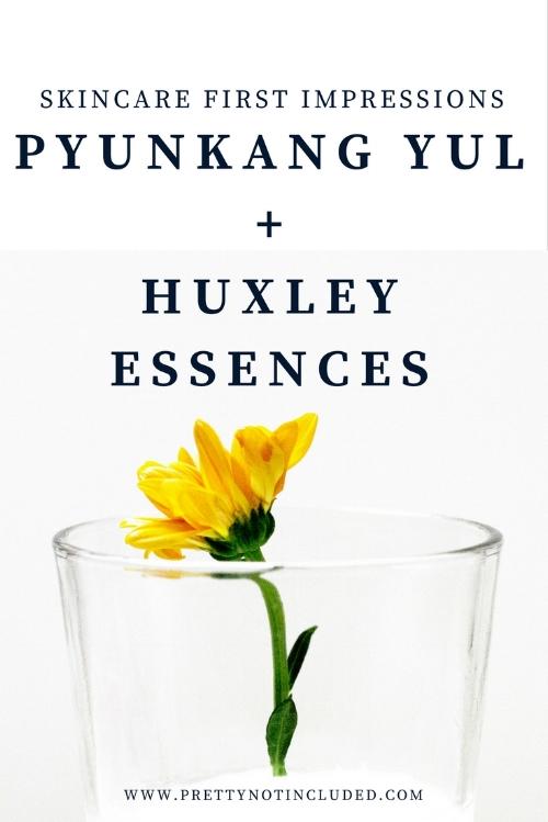 korean skincare first impressions pyunkang yul essence toner huxley grab water essence huxley oil essence orgnaic sahara cactus extract chok chok skin