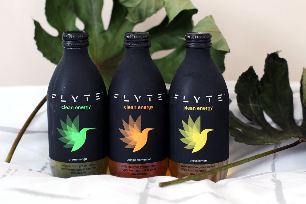 Flyte clean energy drinks with green coffee extract and natural sweetners.