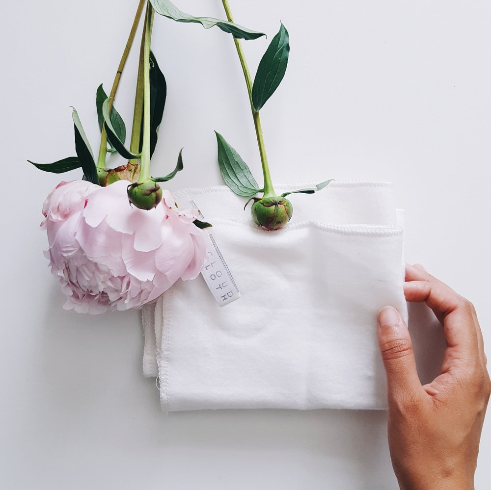 Cloud cloths pure woven cotton UK made zero waste beauty