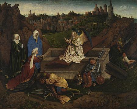 The Three Marys at the Tomb , attributed to Hubert van Eyck. Museum Boijmans Van Beuningen