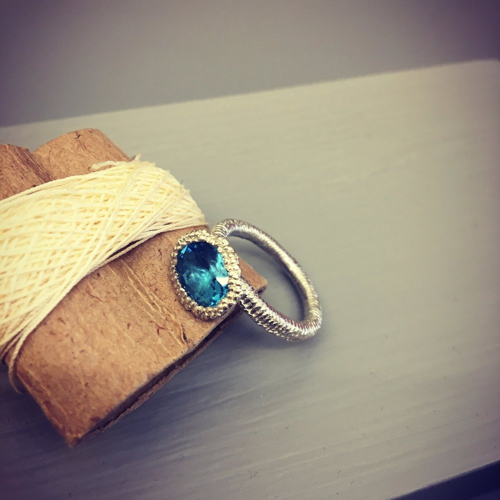 Silver and Topaz Treasure Ring (2016)