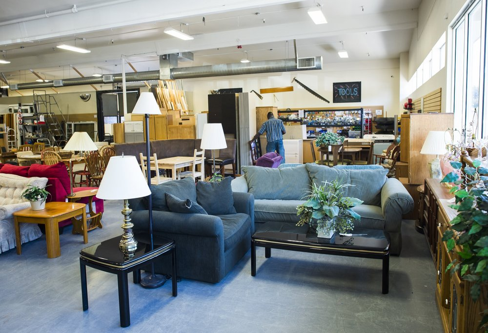 FURNITURE    Find couches, lamps, tables, dressers, desks, and much more at each of our stores. We accept only clean and tear-free items from our donors. Note: we do not carry mattresses.
