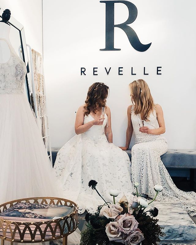 These two besties recently got engaged and requested a double appointment to try on dresses for the very first time. We had such a blast helping them narrow down their choices to ONE. 💕 • Book online or call / DM / email for an appointment (with or without the bestie 😌) 💃🏻 • #theONE #ottawa #wellingtonwest #bridalboutique #bridalshop #engaged #wellingtonvillage #brides #bridal #bridemaids #bridalparty #ottawabride #yowbride #weddinginspo  #weddings #love #weddingplanning #bridalfashion  #shoplocal #sayyaaassatRevelle #revellebride #teamrevelle #revellebridal