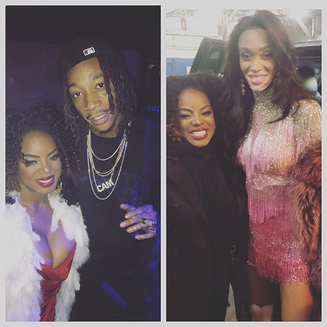 High times and good vibes at the after party and back stage of the #vsfashionshow with @wizkhalifa @winnieharlow