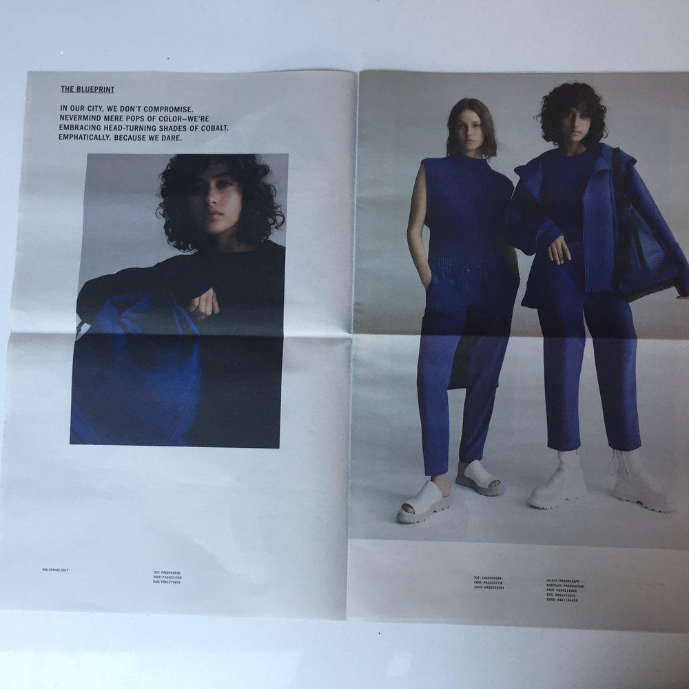 opened mailer spread. Courtesy DKNY